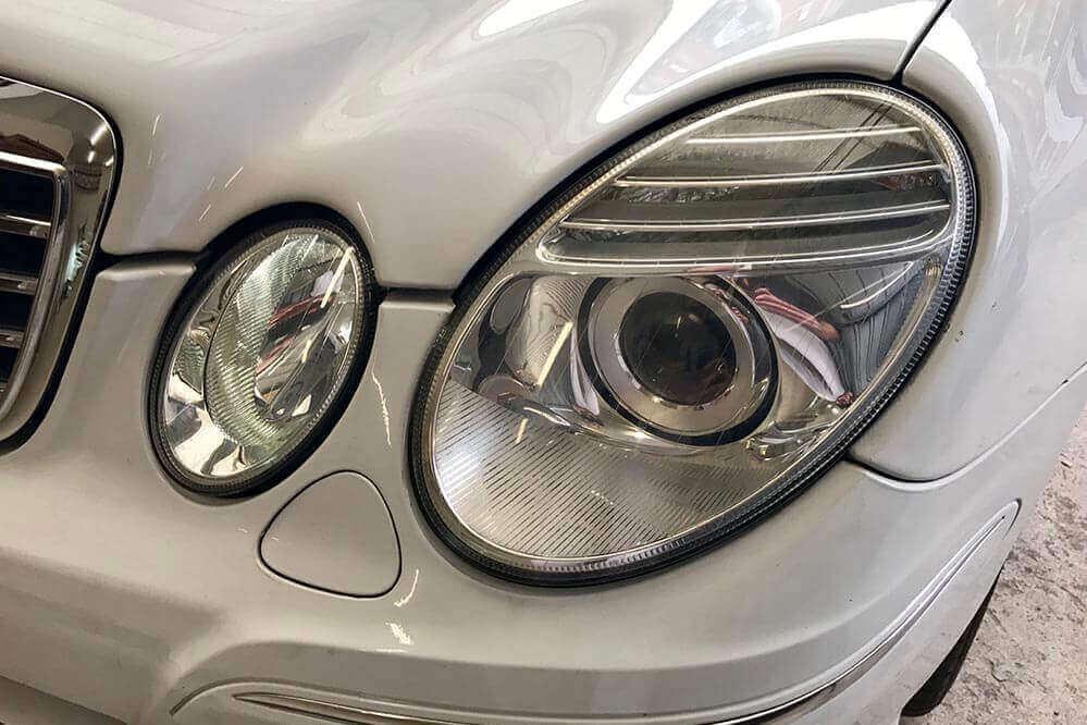 Ripristino fari Mercedes Benz E300