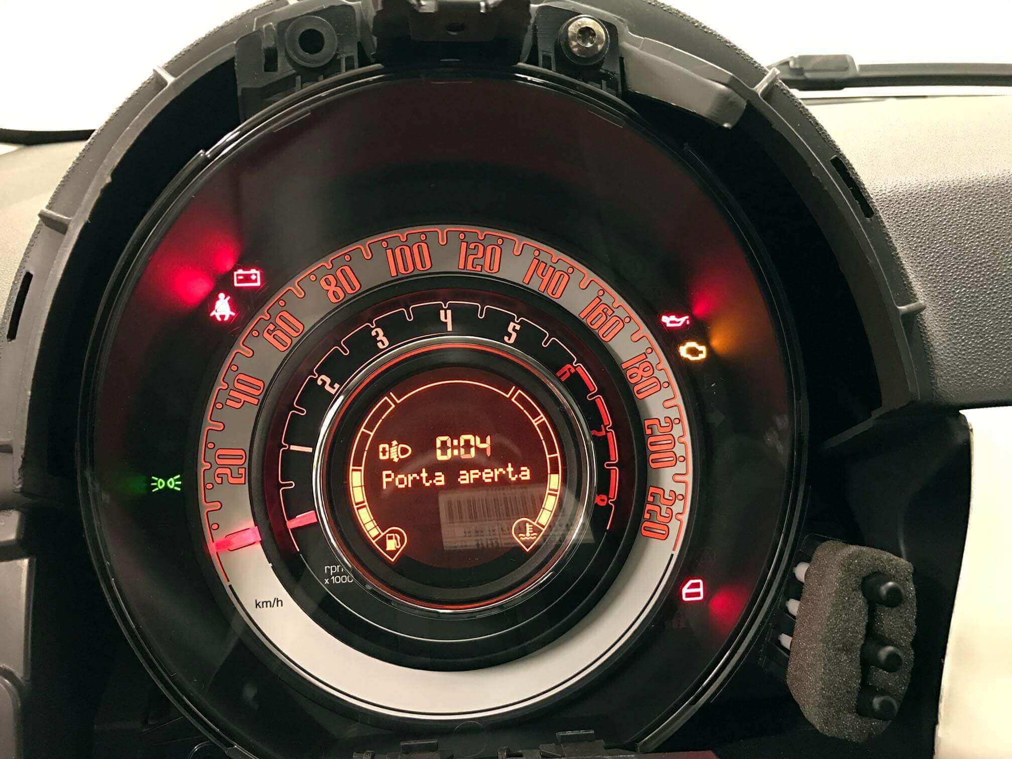 Fiat 500 instrument cluster repair